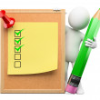 Stock Photo: 3D white . To do list