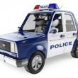 3D white people. Police car — Stock Photo