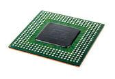 Processor with ball BGA pins — Stock Photo