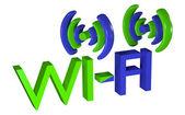 Logo bezdrátové datové sítě. skladem 3d obraz — Stock fotografie