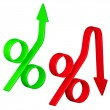 Change in interest rates — Stock Photo