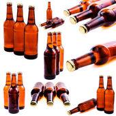 Sweaty bottle of beer — Stock Photo