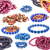 Necklaces of colored balls — Stock Photo