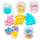 Färgade tabletter — Stockfoto