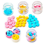 Tabletes coloridos — Foto Stock