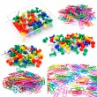 Colored paper clips — Stock Photo #19343125