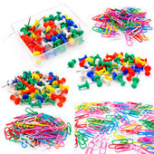 Colored paper clips — Stockfoto