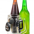 Beer and car keys — Stock Photo