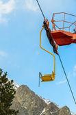 Single ski lift. Stock Photo — Stock Photo