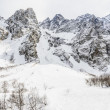 Snow-covered mountains — Stockfoto