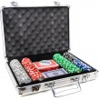 Aluminum suitcase for poker — Stock Photo