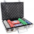 Stock Photo: Aluminum suitcase for poker