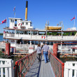 Stock Photo: Heritage Park Paddle Wheel boat