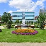 An urban park in Calgary — Stock Photo