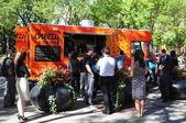 Cheezy bizness voedsel vrachtwagen — Stockfoto