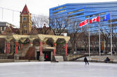 Olympic Plaza, Calgary — Stock Photo