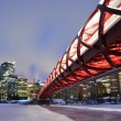 Stock Photo: Calgary pedestribridge