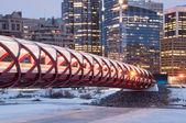 Calgary-fußgängerbrücke — Stockfoto