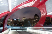 Calgary pedestrian bridge — Stock Photo