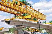 строительство платформы пригородных поезда — Стоковое фото