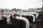 Oil sands pump facility — Stock Photo
