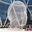 Opening of the Bow Tower and the dedication of the installation of the new art piece by Jaume Plensa at the Bow Tower in Calgary Alberta — Stock Photo