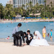 Waikiki Beach wedding photos — Stock Photo #27472353