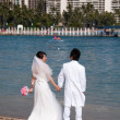 Stock Photo: Waikiki Beach wedding photos