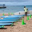 Stock Photo: Waikiki surf lessons