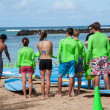 Waikiki surf lessons — Stock Photo