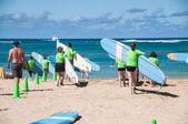 Waikiki surflektioner — Stockfoto