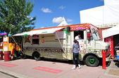 Los Compadres food truck — Stock Photo