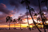 Waikiki Beach at the Hawaiian Hilton Village — Stock Photo