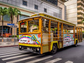 Waikiki Trolley bus — Stock Photo
