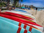 Surfboard rentals, Waikiki — Stock Photo