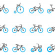 Bicycle type icons in duo tone colors. — Stock Vector #38485817
