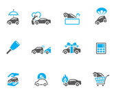 Car insurance icons in duo tone colors. — Stock Vector