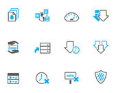 File sharing icon series in duotone color style. — Stock Vector