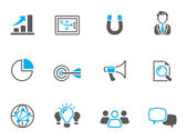 Marketing icons in duo tone colors. — Stock Vector