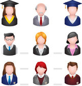 School people icons. — Stock Vector