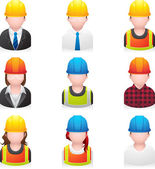 Construction people icon — Stock Vector