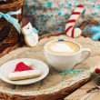 Stock Photo: Christmas composition with cookies and coffee