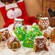 Stock Photo: Christmas composition with cakes