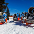 Snowmachine Germany Alps - Stock Photo