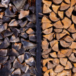 Background of dry chopped firewood logs — Stockfoto