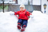 Boys On Snow — Stock Photo
