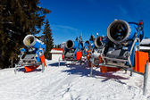 Snowmachine Germany Alps — Stock Photo