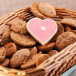 Heart shaped cookie — Stock Photo