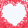 Stock Photo: Valentine hearts frame