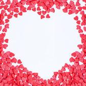 Moldura de corações dos namorados — Fotografia Stock